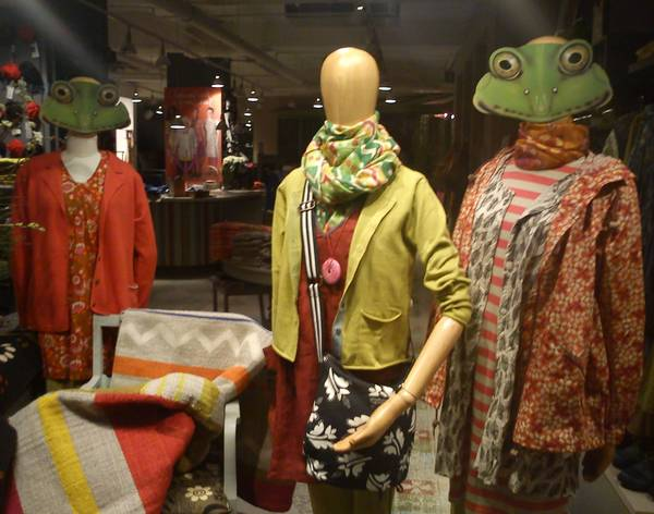 Mannequins with Frog Heads