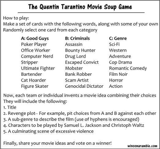 Quentin-Taratino-Movie-Soup-Game-Table