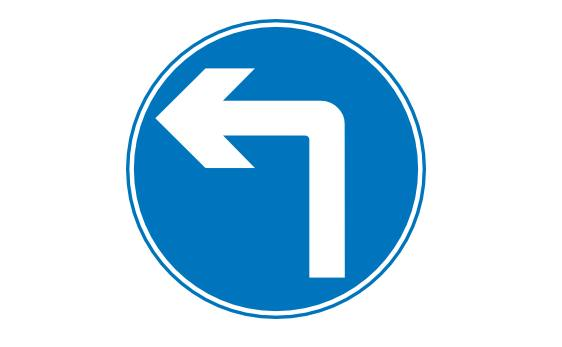 Blue Left Sign