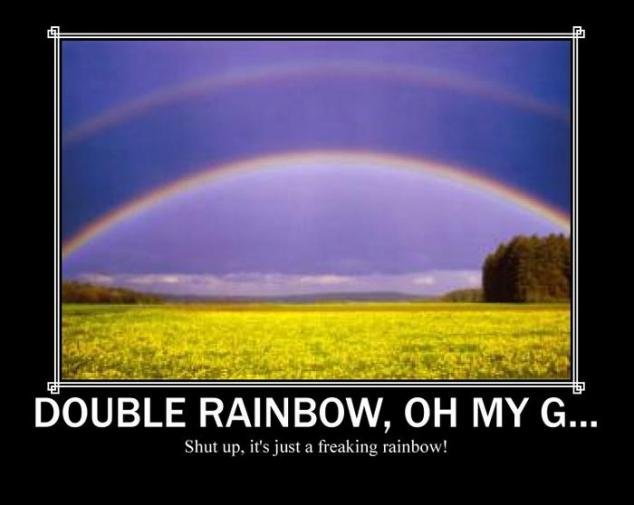 Double Rainbow Motivational Poster