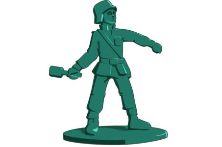 Green Toy Soldier Grenade