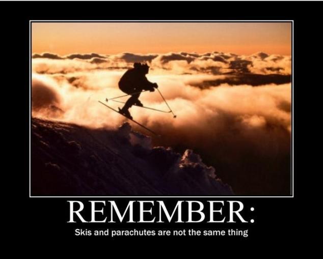 Skis Motivational Poster