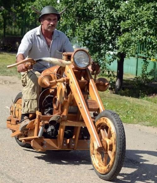 Cow Horns Firewood Motorcycle Istvan Puskas