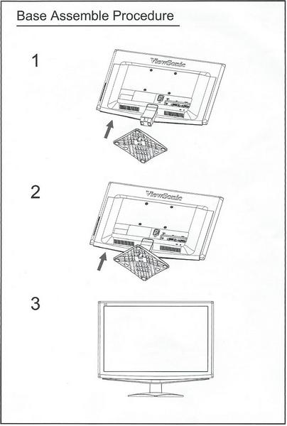 LCD Monitor Base Assembly Instructions