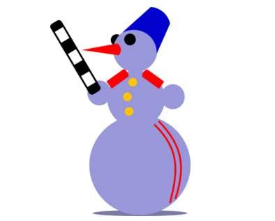 Snowman Cop with Baton