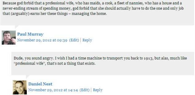 Comment On Dont's For Wives about Gender Equality