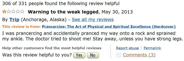 Prancercise Amazon Review