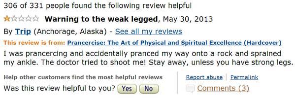 Prancercise Amazon Review