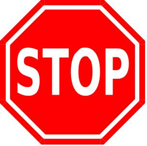Red Stop Sign - Gender Equality