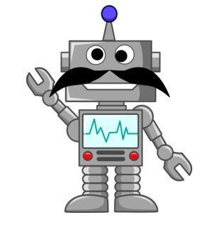 Robot With Mustache