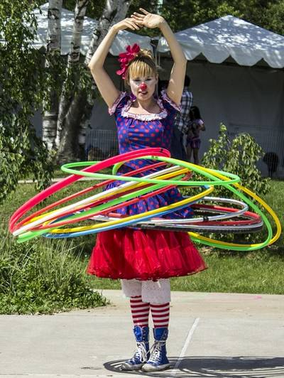 Hula Hoop Clown Girl