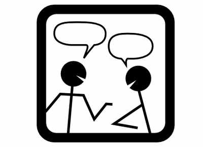 Two Talking People Speech Bubbles