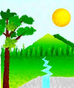 Tree Mountain Sunset