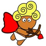 Valentine's Cupid With Arrows And Heart