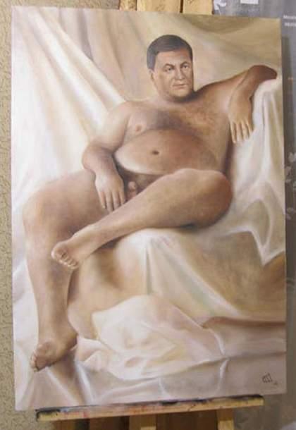 Yanukovych Naked