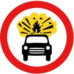 Car Explosion Sign