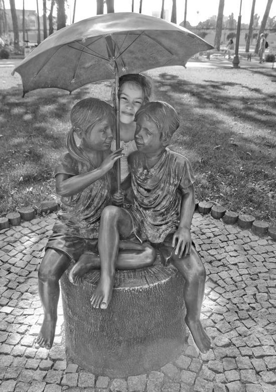 Leah Statue Smile