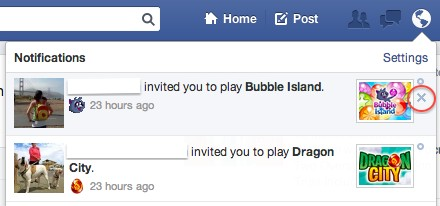 Facebook Game Invite
