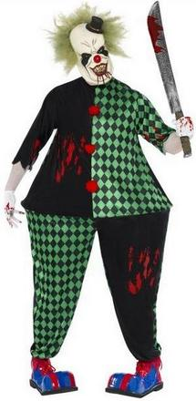 Fat Killer Clown Costume Small