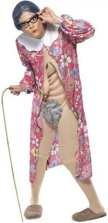 Naked Grandma Costume Small