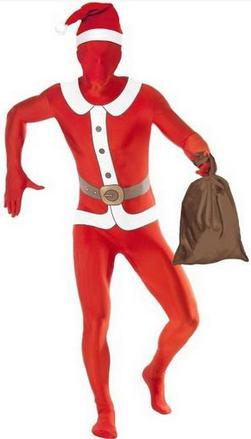 Santa Skin Suit Costume Small