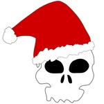 Skull With A Santa Hat