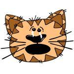 Orange Brown Cat Face