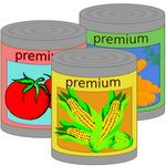Premium Cans Of Vegetables