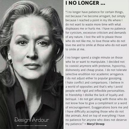 Misattributed Meryl Streep Quote