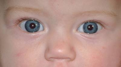 Antichrist signs: Baby eyes close-up