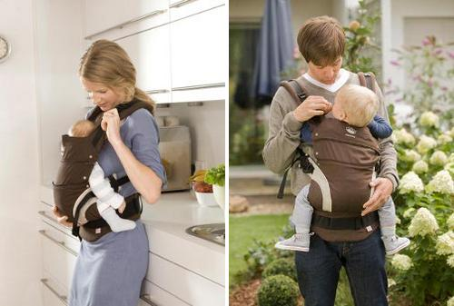 Brown manduca baby carrier