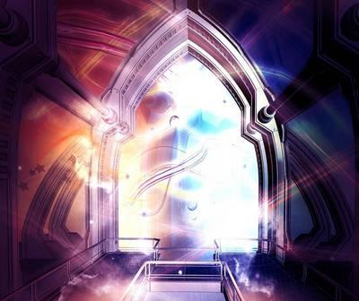 Antichrist signs: Magic colorful portal