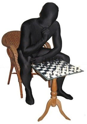 Black Morphsuit Chessboard