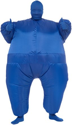 Blue Blow-Up Morphsuit