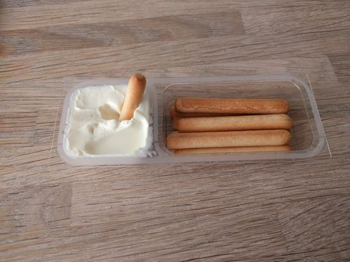 Bread sticks with cheese open