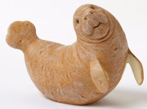 Manatee figurine from potato