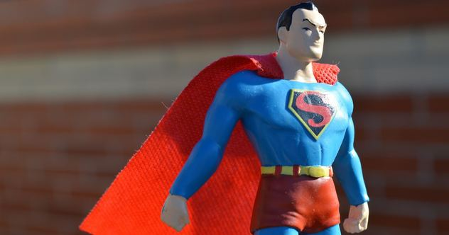Superman figure with red cape